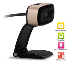 Ausdom HD Webcam, Widescreen 720P Web Camera with Built-in Noise Reduction Microphone
