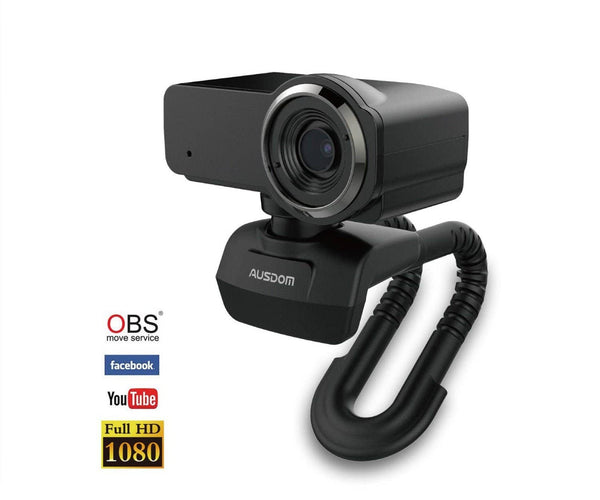 Ausdom Streaming Full HD 1080P Webcam with Microphone for Mac