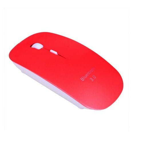 HDE Slim Bluetooth 3.0 Wireless Mouse Optical Ergonomic - Red