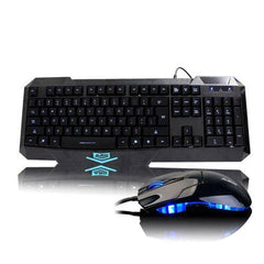 Ajazz Firstblood X5 Blue Backlight Wired Gaming Keyboard and Mouse Combo