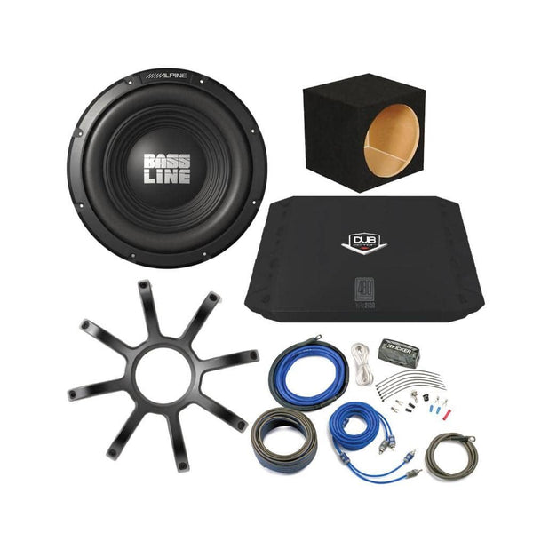 "Alpine Bassline 12"" Subwoofer Bass Package"