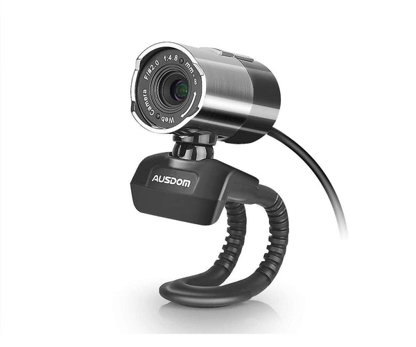 Ausdom Full HD 1080p Webcam Web Camera with Microphone, Sliver