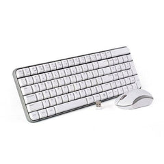 Jelly Comb MK08 Ultra Compact Wireless Keyboard and Mouse Combo - Silver/White