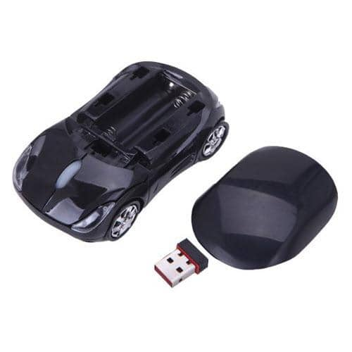 HDE Sports Car Shape Wirless Optical Mouse - California Black