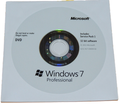 Microsoft Windows 7 Professional 32 Bit Installation Disc