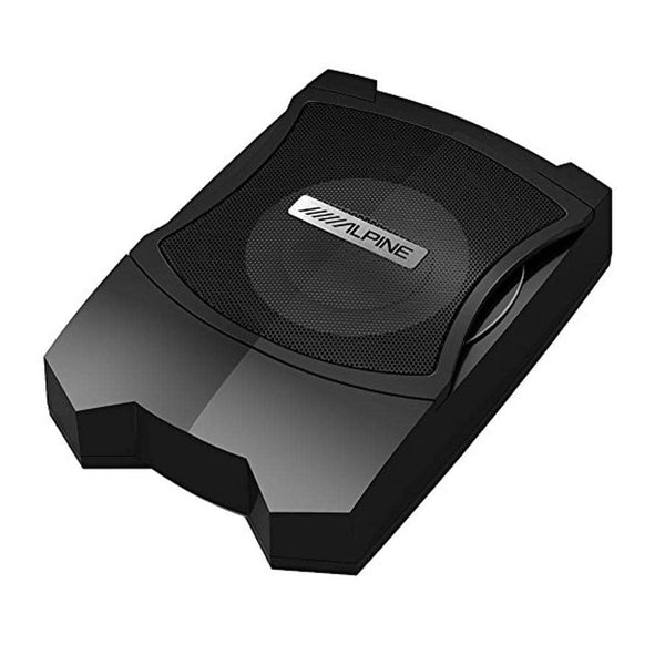 "Alpine PWE-V80 Car 8"" Powered Enclosed Subwoofer UNDERSEAT SUBWOOFER PWEV80"