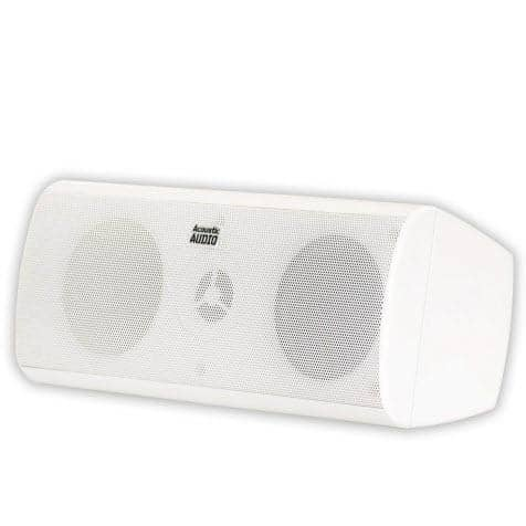 Acoustic Audio AA40CW Indoor Center 3 Way Speaker 500 Watts White Bookshelf