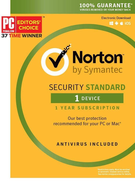 Norton Security Standard - 1 Device Key Card