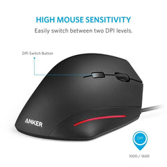 Anker Ergonomic USB Wired Vertical Mouse