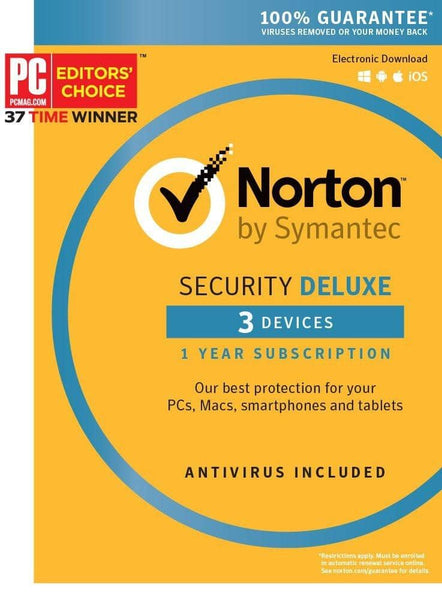 Norton Security Deluxe - 3 Devices Key Card