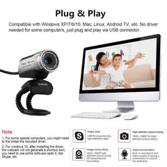 AUSDOM 1080P HD USB Webcam with Built-in Microphone