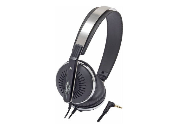 Audio Technica ATH-RE70BK Classic Retro Style On-Ear Headphones - Black