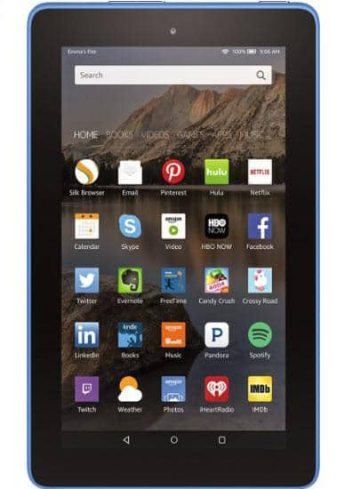 "Amazon - Fire - 7"" - Tablet - 8GB - Blue"