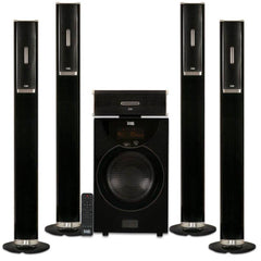"Acoustic Audio AAT2002 Tower 5.1 Home Theater Bluetooth Speaker System with 8"" Powered Subwoofer"