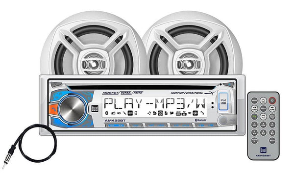 Dual AMCP425BT Marine Stereo CD Receiver with Motion Control and Bluetooth Speakers