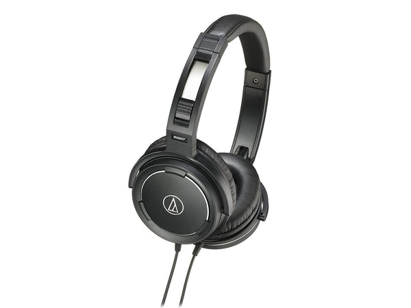 Audio Technica AUD ATHWS55BK Solid Bass Audio Headphones
