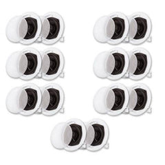 Acoustic Audio R191 In Ceiling / In Wall Speaker 7 Pair Pack 2 Way Home Theater 2800 Watt R191-7PR