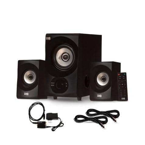 Acoustic Audio AA2171 Bluetooth 2.1 Home Speaker System with Optical Input and 2 Extension Cables
