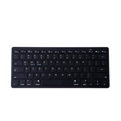HDE Mini Aluminum Bluetooth 3.0 Wireless Multimedia Keyboard - Black