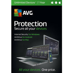 AVG Protection | Unlimited Devices | 1 Year