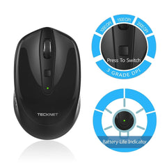 TeckNet Omni Mini 2.4G Wireless Mouse - Black