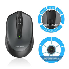 TeckNet Omni Mini 2.4G Wireless Mouse - Grey
