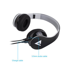 Vomach Bluetooth Wireless Foldable Hi-fi Stereo Over-ear Headphone