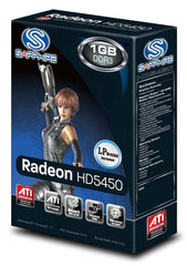 Sapphire Radeon HD 5450 1 GB DDR3 PCI-Express Graphics Card