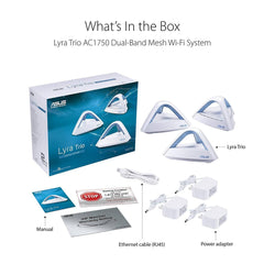 ASUS Lyra Trio (3 packs) Home Mesh WiFi System (AC1750)