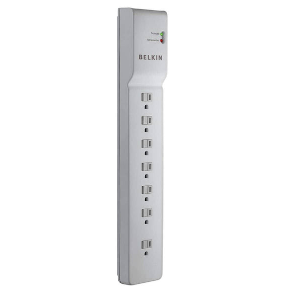 Belkin 7-Outlet Commercial Power Strip Surge Protector with 7-Foot Power Cord, 750 Joules