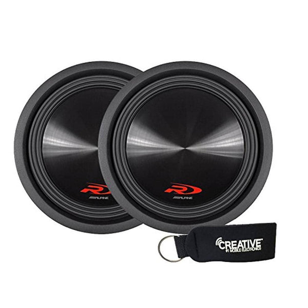 "Alpine SWR-12D4 Ohm 12"" Subwoofer Bundle"