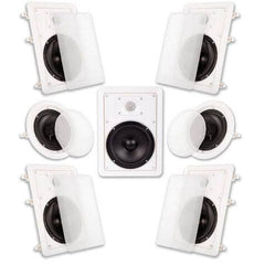 "Acoustic Audio HT-67 In Wall In Ceiling 1750 Watt 6.5"" Home Theater 7 Speaker System"