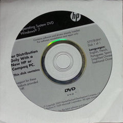 Microsoft Windows 7 Home Premium 64 Bit Restore Disc HP