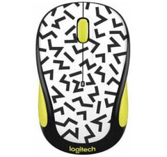 Logitech - Wireless Optical Mouse - Yellow zigzag