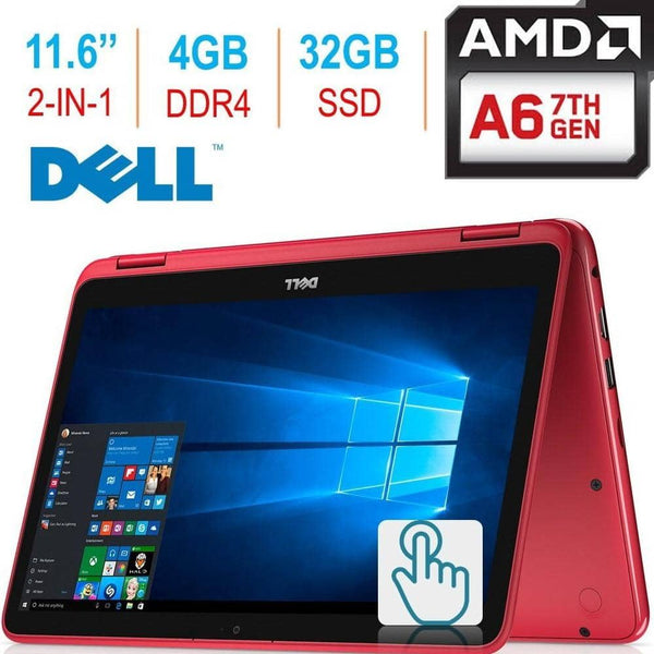 Dell Inspiron 11.6-inch 3000 2-in-1 Touchscreen Laptop/Tablet PC