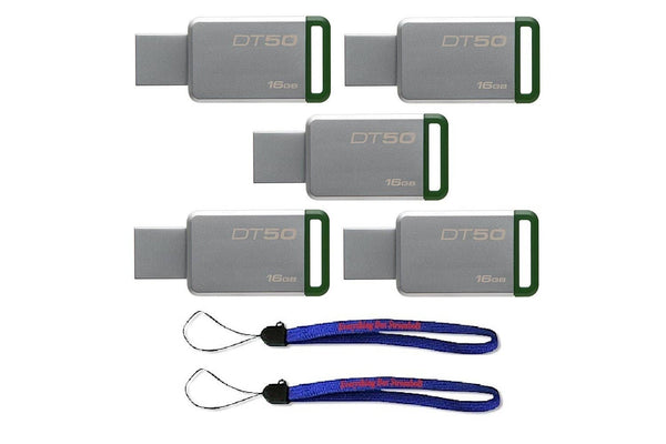 Kingston (TM) Digital 16GB (5 Pack) USB - Green