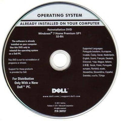 Microsoft Windows 7 Home Premium 32-Bit Restore Disc Dell