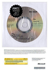 Office Professional 2007 5 Pc's Product Key Card & DVD