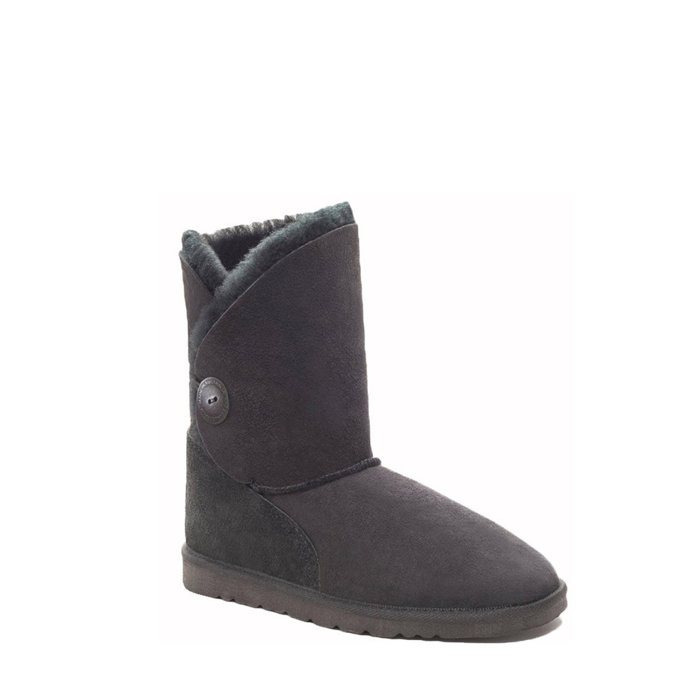 DIANA MID BLACK - PURE OZ AUSTRALIAN MADE SHEEPSKIN UGG BOOT