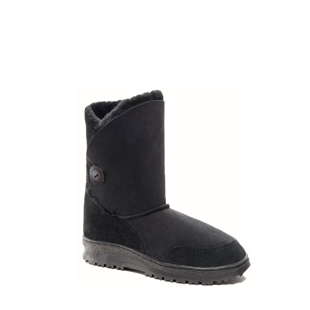 DIANA WANDER MID BLACK - PURE OZ AUSTRALIAN MADE SHEEPSKIN UGG BOOT