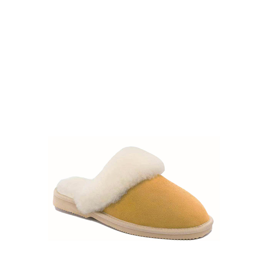 GODDESS SLIDE CARAMEL - PURE OZ AUSTRALIAN MADE SHEEPSKIN UGG BOOT