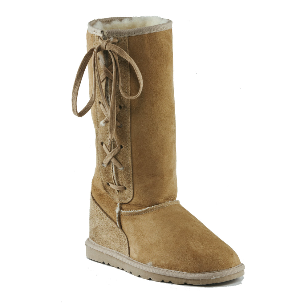 ICON LACE UP CARAMEL - PURE OZ AUSTRALIAN MADE UGG BOOTS