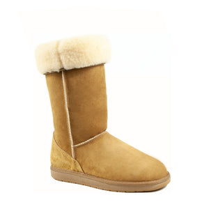 ICON CARAMEL ROLLED - PURE OZ - AUSTRALIA MADE SHEEPSKIN BOOT