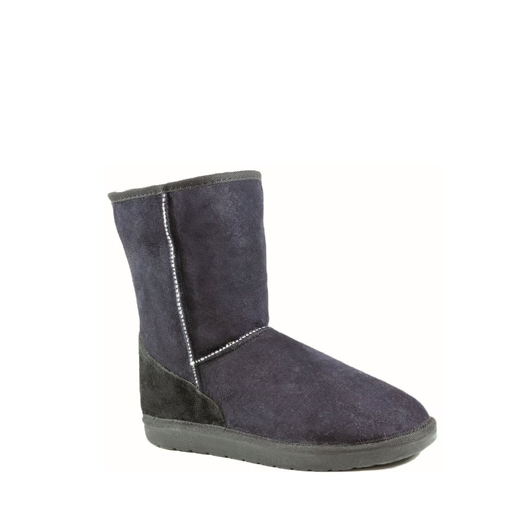 ICON MID BLACK- PURE OZ - AUSTRALIA MADE SHEEPSKIN BOOT