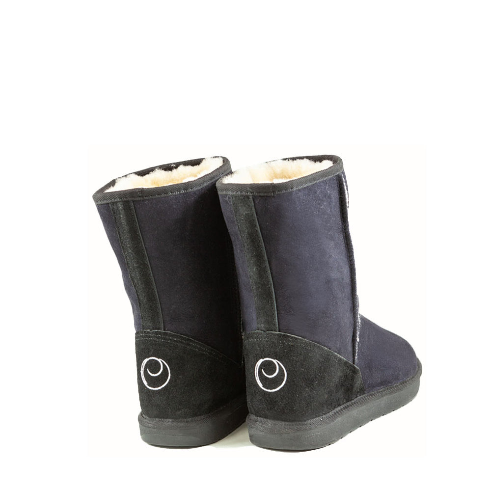 Load image into Gallery viewer, ICON MID BLACK MENS BACK - PURE OZ - AUSTRALIA MADE SHEEPSKIN BOOT