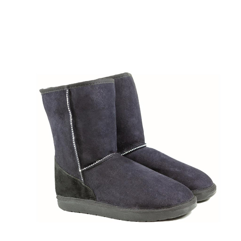 Load image into Gallery viewer, ICON MID BLACK PAIR - PURE OZ - AUSTRALIA MADE SHEEPSKIN BOOT