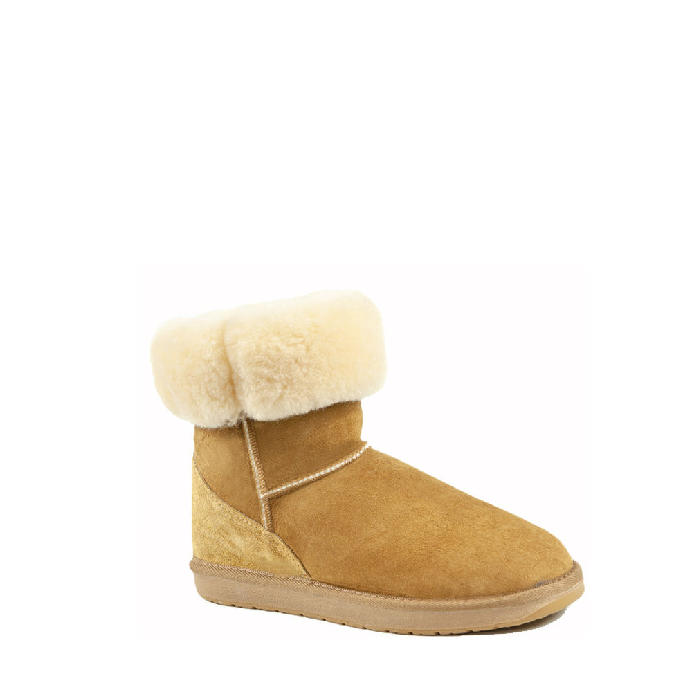 ICON MID CARAMEL ROLLED - PURE OZ - AUSTRALIA MADE SHEEPSKIN BOOT