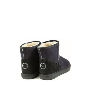 Load image into Gallery viewer, ICON MINI BLACK BACK- PURE OZ AUSTRALIAN MADE SHEEPSKIN UGG BOOTS