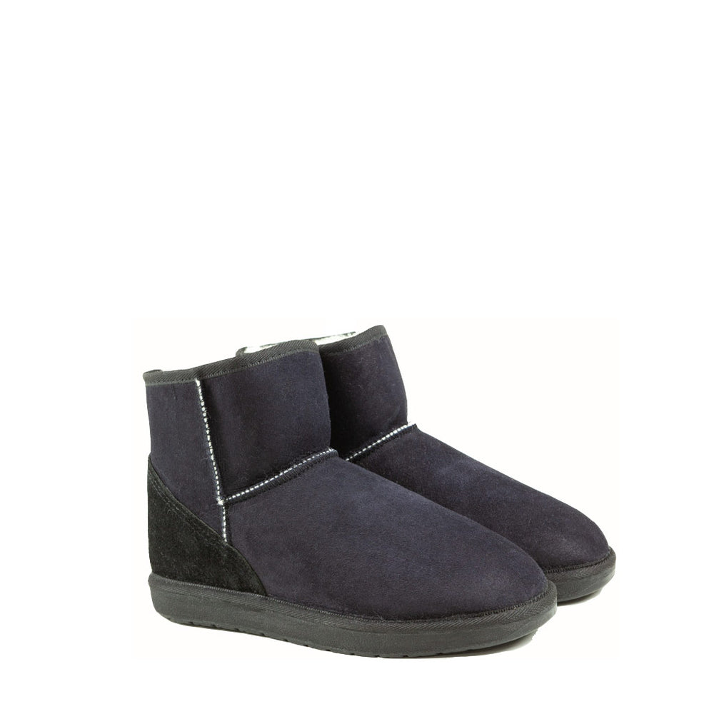 Load image into Gallery viewer, ICON MINI BLACK PAIR - PURE OZ AUSTRALIAN MADE SHEEPSKIN UGG BOOTS