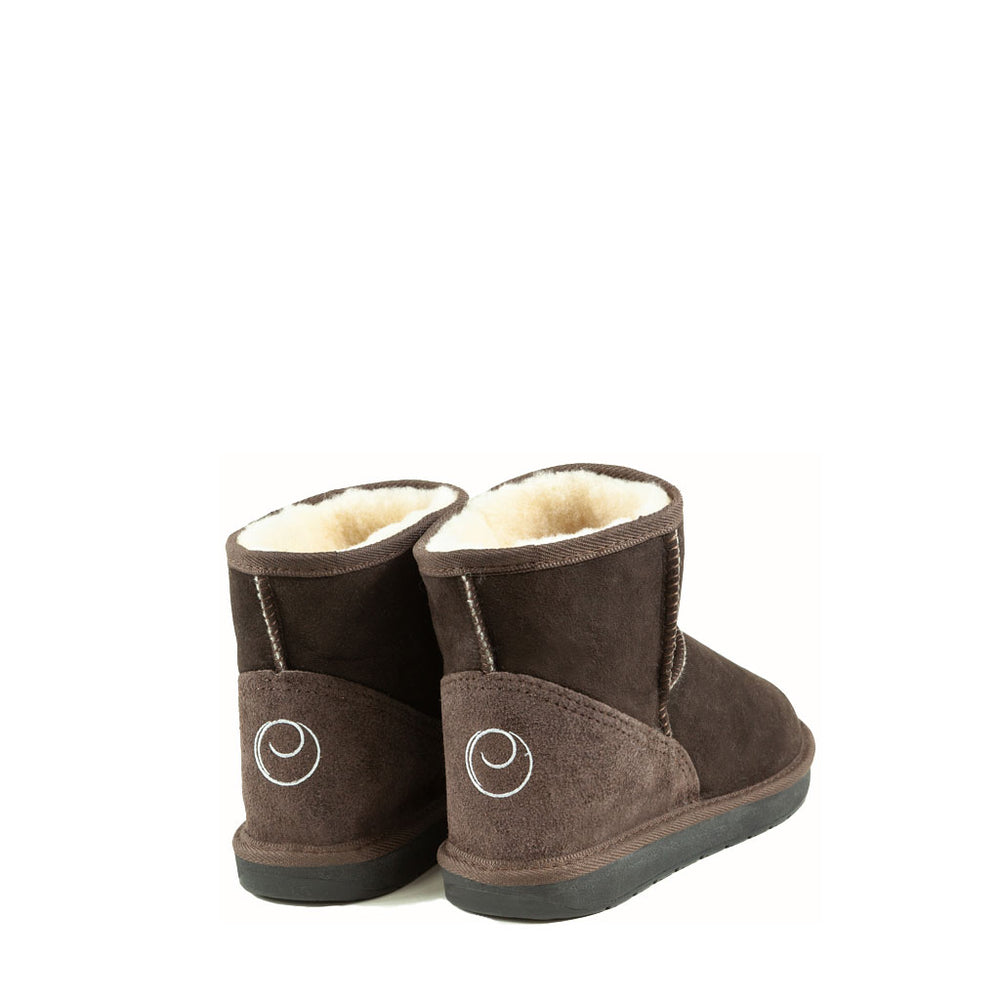 ICON MINI MOCHA MENS BACK - PURE OZ AUSTRALIAN MADE SHEEPSKIN UGG BOOTS